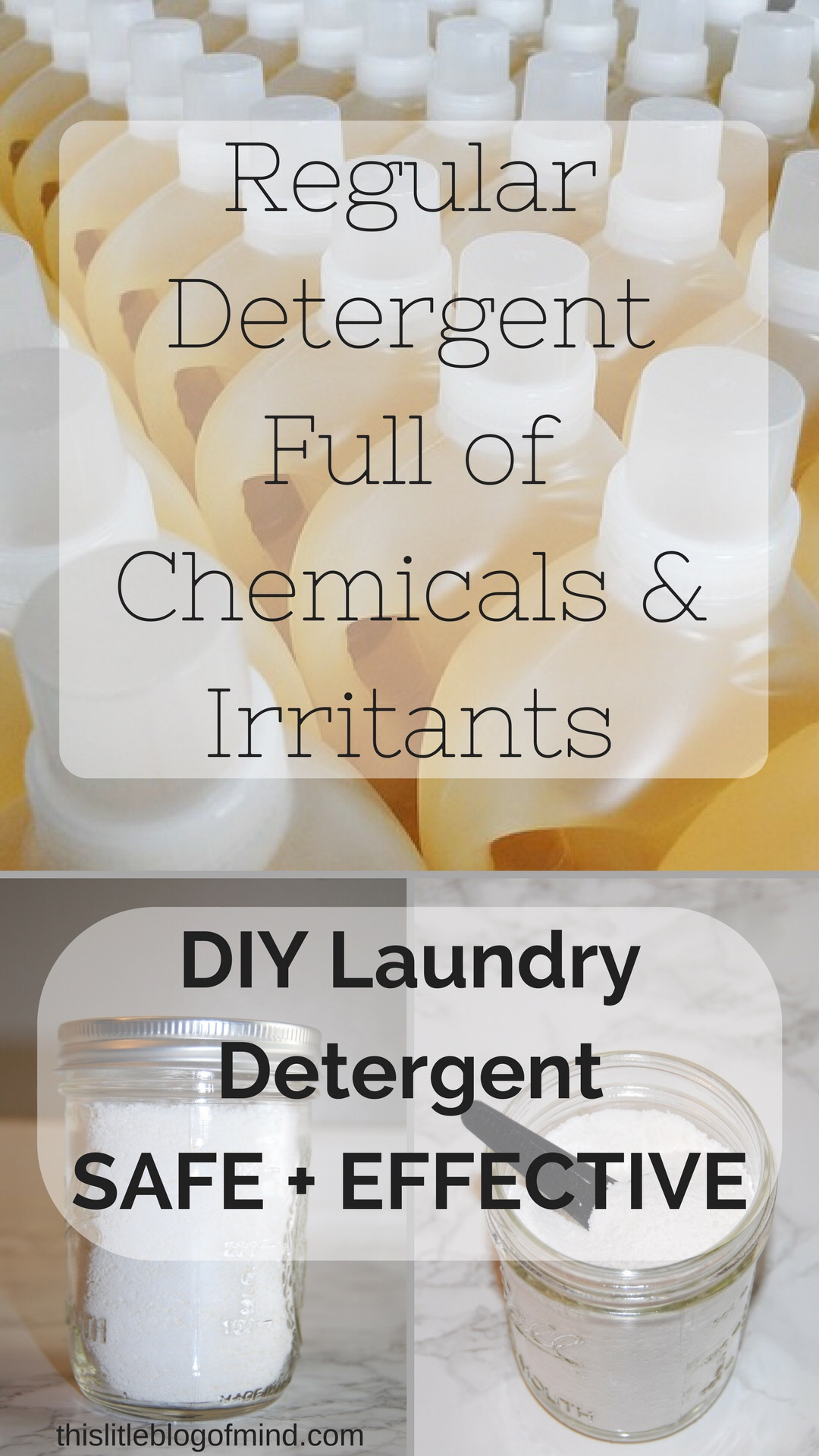 DIY homemade laundry detergent. Safe + effective. Only 3 ingredients and 5 minutes. | simplywellfamily.com