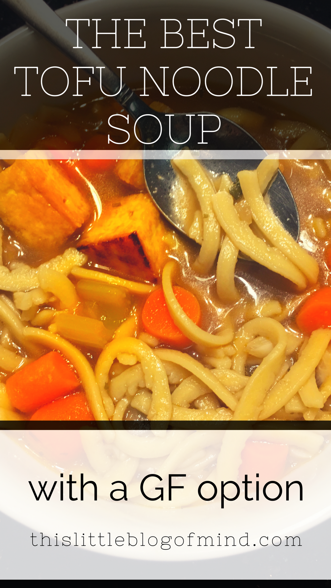 Tofu noodle soup is a plant-based alternative to chicken noodle soup. It's vegan and can easily be made gluten-free. It's easy to make and full of flavor. | simplywellfamily.com