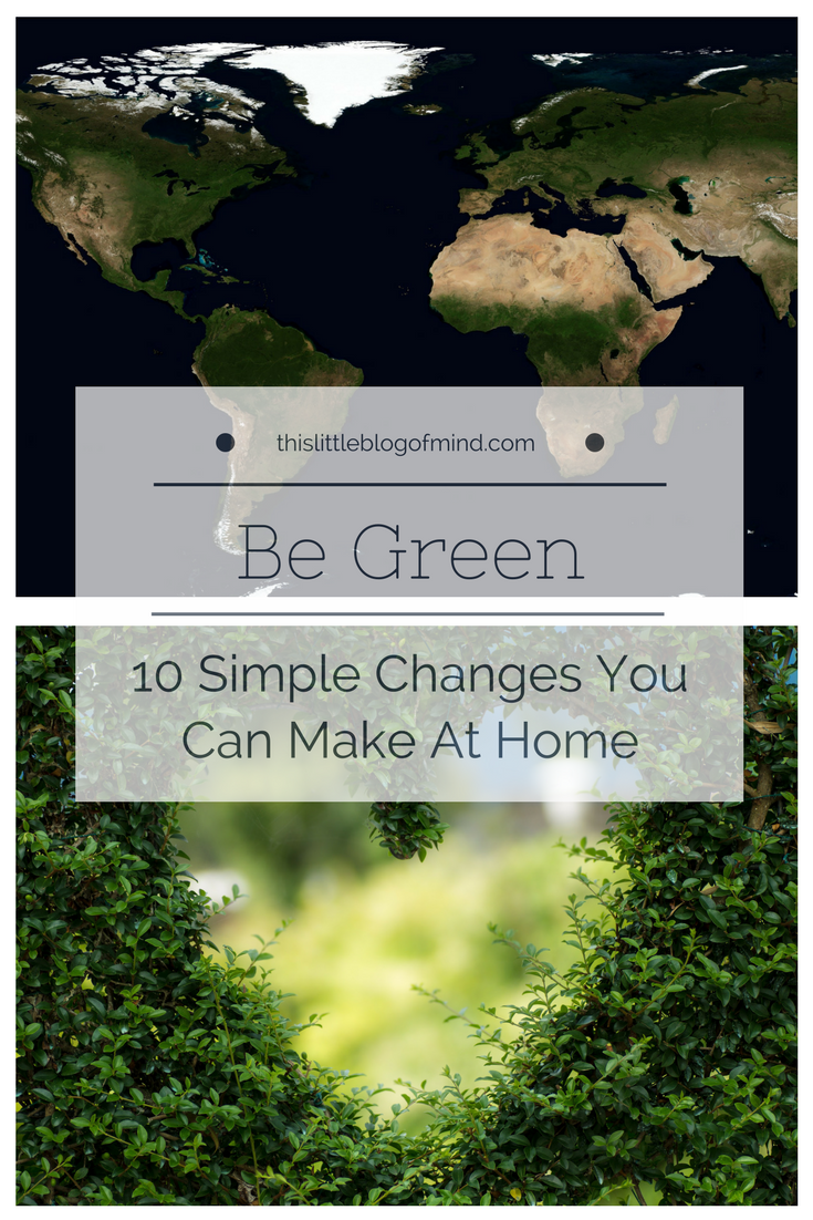 Celebrate Earth Day and make these 10 simple changes to be more green (eco-friendly)! | simplywellfamily.com