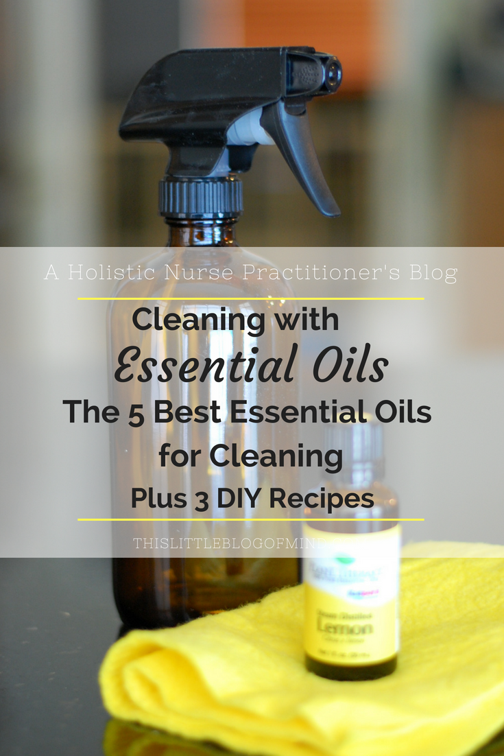 The 5 best essential oils to have on hand for homemade natural cleaners. Plus get three simple DIY recipes for cleaning with essential oils. #castilesoap #vinegar | simplywellfamily.com