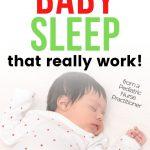 newborn baby sleeping at night
