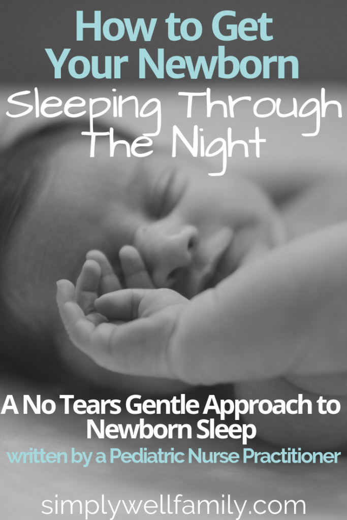 Tips on how to get your newborn baby sleeping through the night. This is a no-cry gentle approach to helping your baby adjust to sleeping at night. This is not a traditional sleep training method. Also includes the best swaddle and sound machine that every new mom needs.
