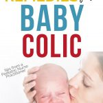 mother soothing baby with colic