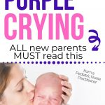 mother soothing crying baby purple crying