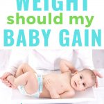 baby on scale checking weight gain