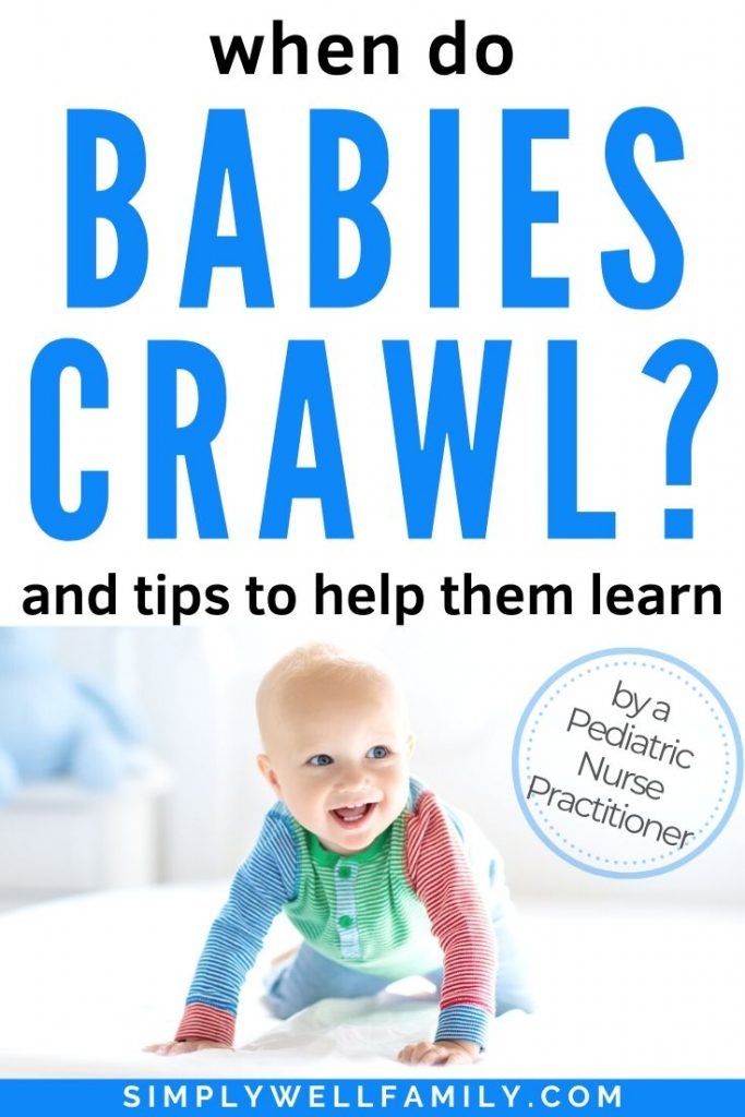 baby learning how to crawl
