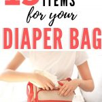mothering packing diaper bag for baby